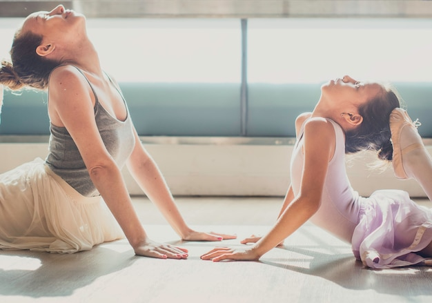 Ballet ballerina dancer performer pratice concept Photo Premium
