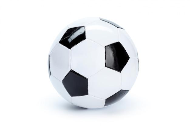 Ballon de foot isolé sur blanc Photo Premium