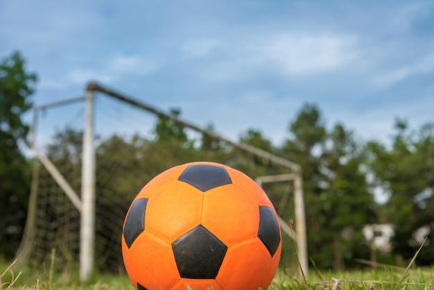 Ballon De Foot Orange Photo Premium