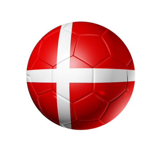 Ballon De Football Avec Drapeau Danois Photo Premium