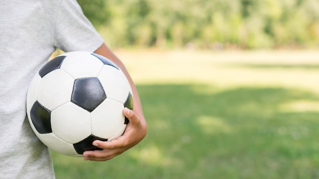 Ballon De Football Gros Plan Photo gratuit