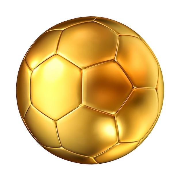 Ballon de soccer doré Photo Premium