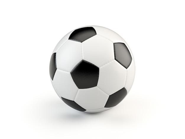 Ballon De Soccer De Style Vintage Noir Et Blanc Isolé Photo Premium