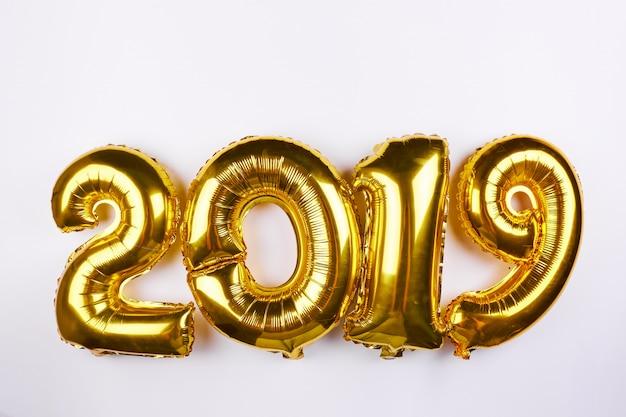 Ballons d'or du nouvel an 2019 Photo Premium
