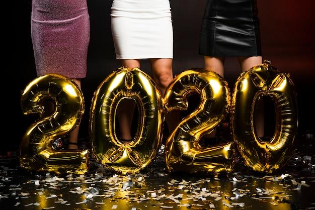 Ballons d'or du nouvel an Photo gratuit