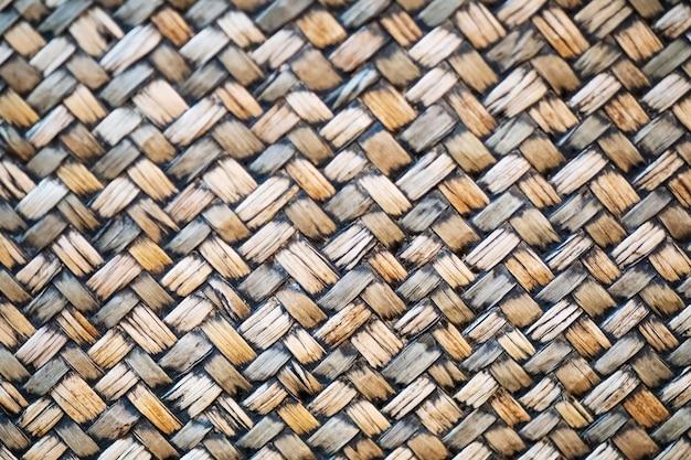 Bambou Tissage Traditionnel Modèle Texture De Fond De Style Thaïlandais Photo Premium