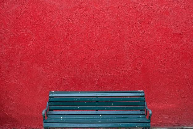 Banc Avec Mur De Texture Grunge Vieux Ciment Photo Premium