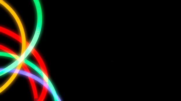 Bande lumineuse colorée au néon sur fond sombre Photo gratuit