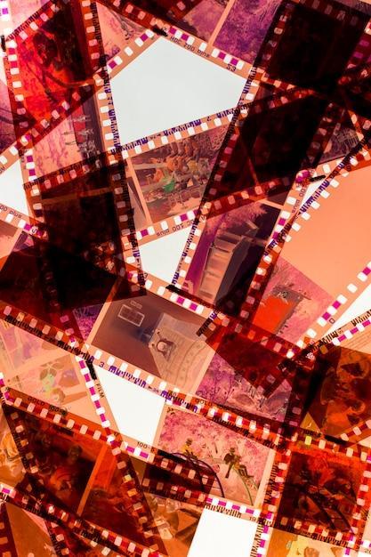 Bandes de film négatif transparent sur fond blanc Photo gratuit