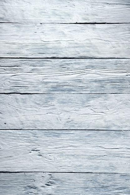 Bandes Horizontales, Texture En Bois Blanc Avec Teinte Bleue. | Photo Premium