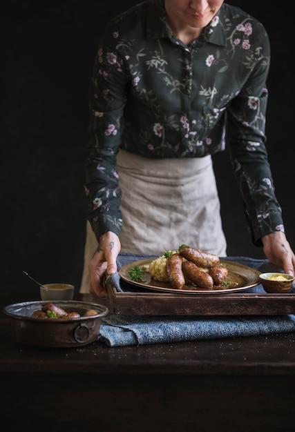 Bangers And Mash Food Recette Idée Photo Premium