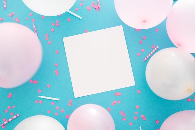 Bannière De Fête Ou D'anniversaire Avec Espace Pour Le Texte Photo gratuit