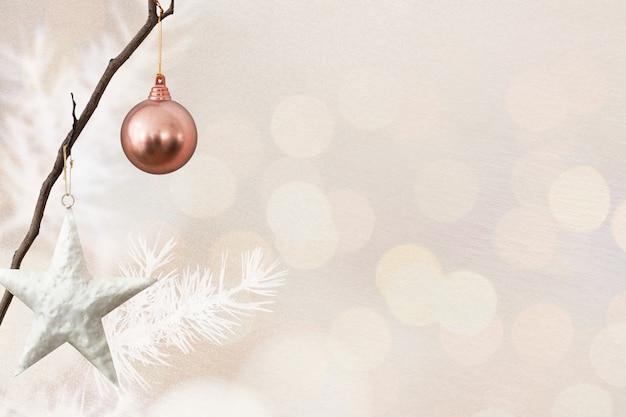 Bannière De Médias Sociaux De Noël Avec Espace De Conception Photo gratuit