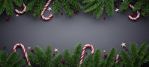 Bannière De Noël Avec Ornement Saisonnier Photo Premium