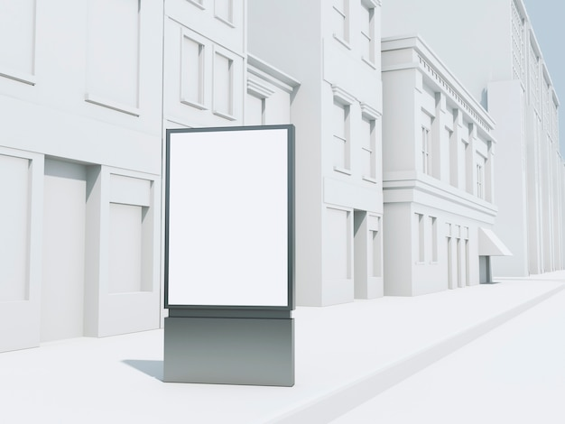 Bannière de rue 3d simulée Photo Premium