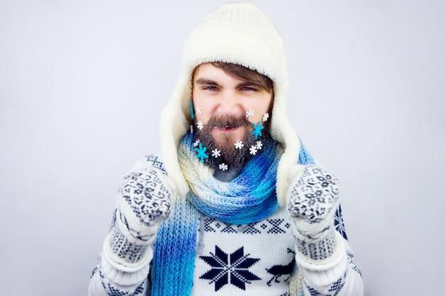 Barbe de nouvel an Photo Premium
