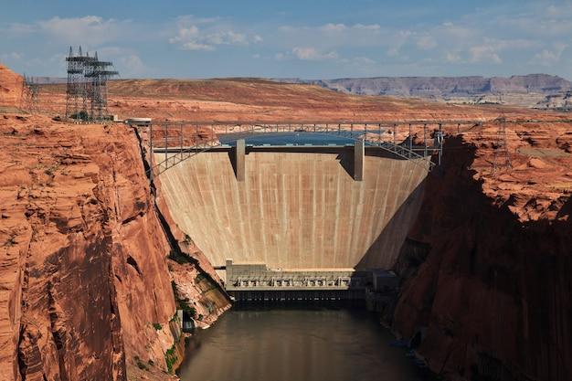 Barrage Sur Le Fleuve Colorado En Arizona, Paige Photo Premium