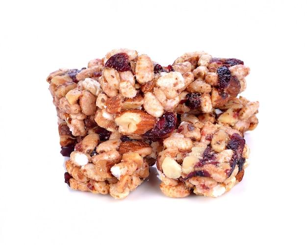 Barre de céréales isolée Photo Premium