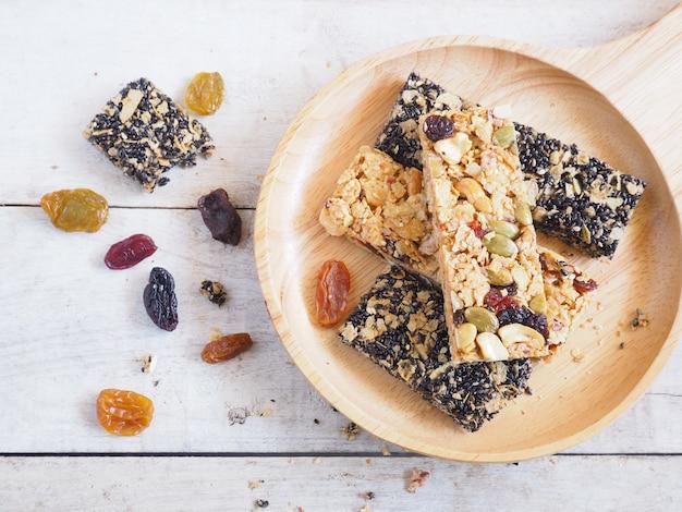 Barre granola saine. Photo Premium