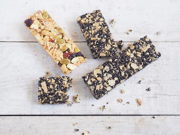 Barre granola saine Photo Premium