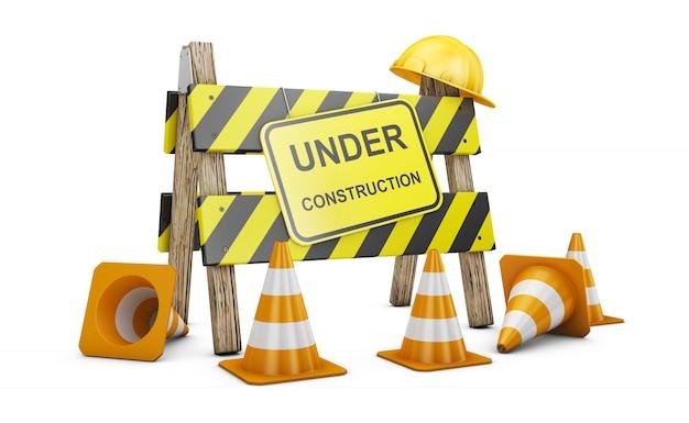 Barrière en construction Photo Premium