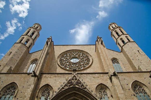 Basilique de santa maria del mar Photo Premium