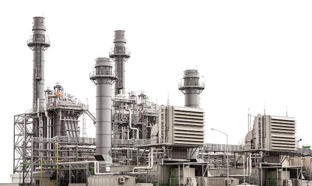 Bâtiment De La Centrale électrique Isolé Sur Blanc Photo Premium