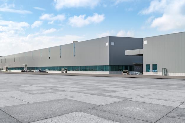 Bâtiments D'usine Et Entrepôts Modernes Photo Premium