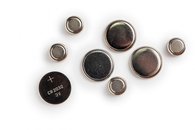 Batteries Isolées Sur Un Espace Blanc Photo Premium