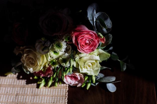 Beau bouquet de mariage Photo Premium
