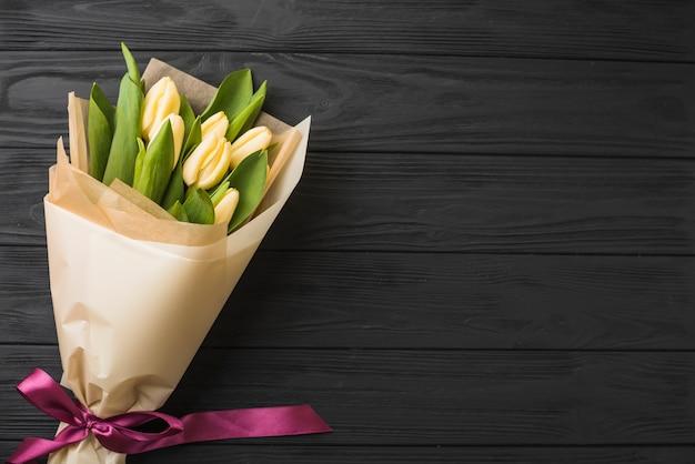 Beau Bouquet De Tulipes Photo Premium