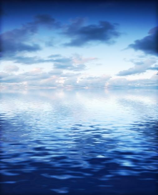 Beau Ciel Avec Vue Mer Lumineux Photo gratuit