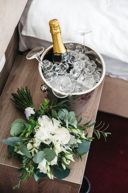Beau décor le jour du mariage Photo gratuit