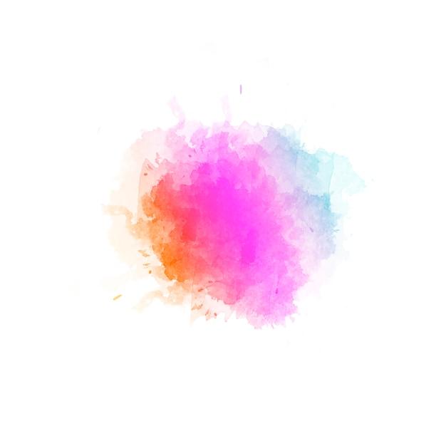 Beau Fond Abstrait De Taches De Couleur De L'eau Dessinés à La Main Photo gratuit