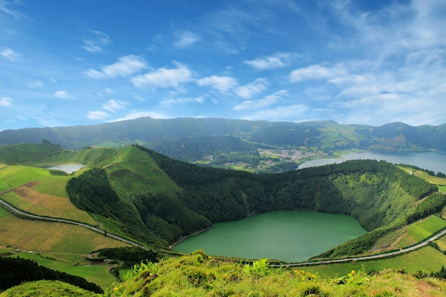 Beau lac de sete cidades, açores, portugal europe Photo Premium