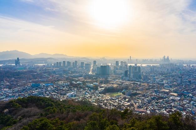 Beau paysage et paysage urbain de la ville de séoul Photo gratuit