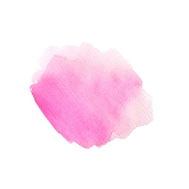 Beau pinceau aquarelle rose Photo gratuit