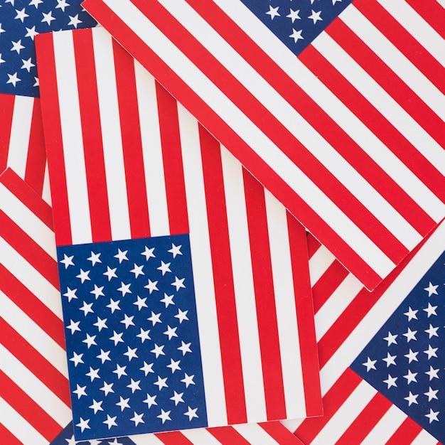 Beaucoup de drapeaux nationaux d'amérique Photo gratuit