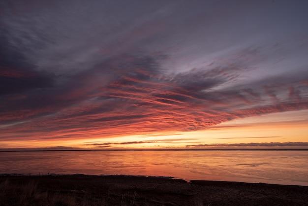 Beaux Paysages D'hiver Lever De Soleil Dans L'est De L'islande Photo gratuit