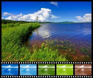 Beaver brook échantillonneur film couleur Photo gratuit