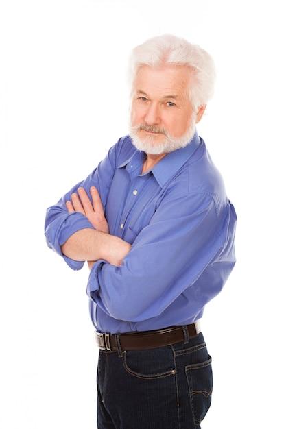 Bel Homme âgé Avec Barbe Photo gratuit
