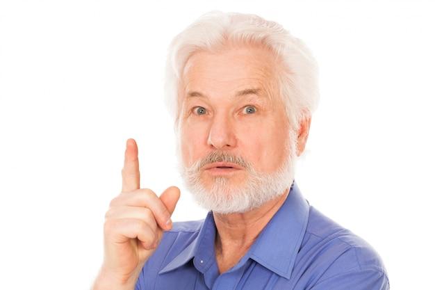Bel Homme âgé A Une Idée Photo gratuit
