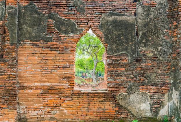 Belle ancienne architecture historique d'ayutthaya en thaïlande Photo Premium