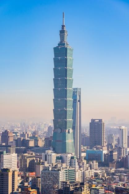 Belle architecture bâtiment ville de taipei Photo gratuit