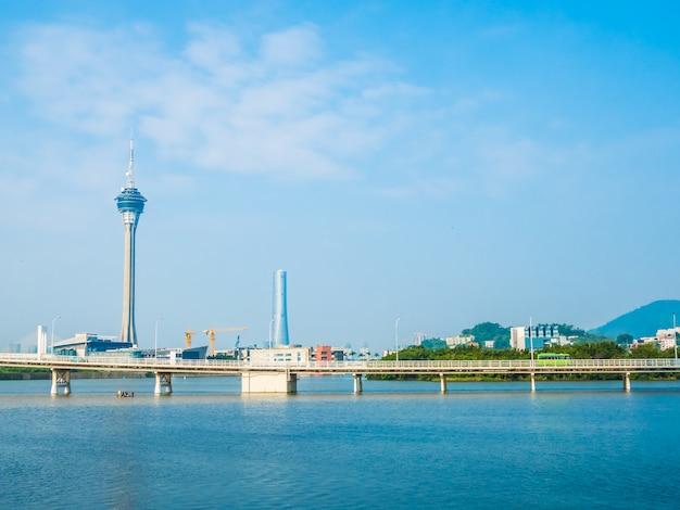 Belle architecture de la tour de macao dans la ville Photo gratuit