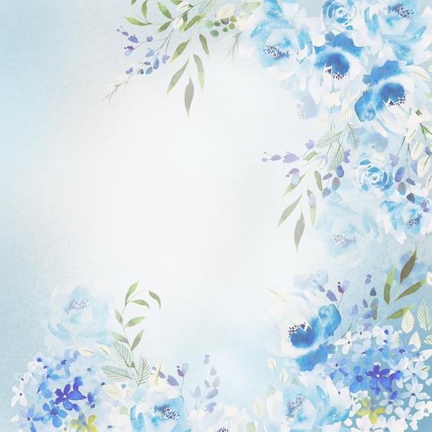 Belle Carte Aquarelle Avec Des Fleurs De Roses, D'hortensia Et De Pivoine. Photo Premium