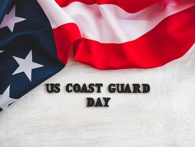 Belle carte pour le jour de la garde côtière américaine Photo Premium