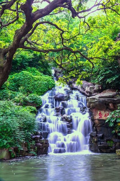 Belle cascade naturelle Photo gratuit
