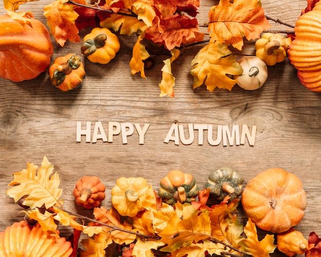 Belle composition d'automne Photo gratuit