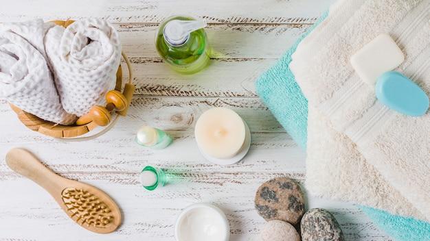 Belle composition pour concept spa ou bain Photo gratuit